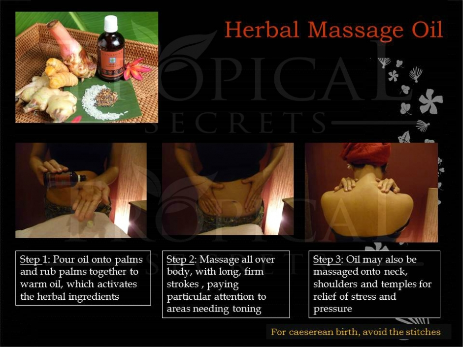 Herbal massage oil Usage WM